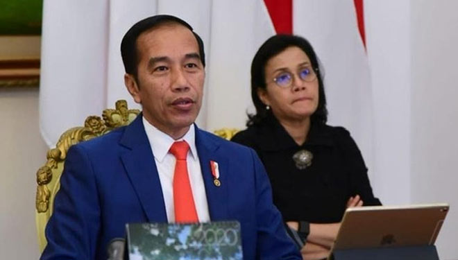 Jokowi dan Sri Mulyani