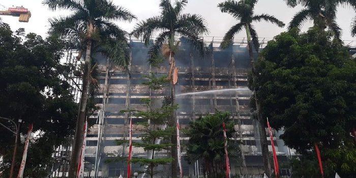CCTV Kejagung Rusak Terbakar