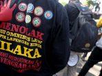 Demo buruh di Bandung
