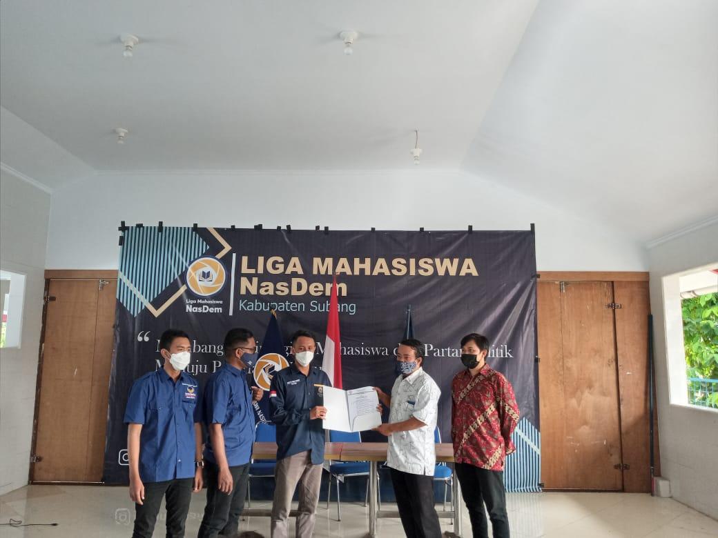 Liga Mahasiswa Nasdem Subang Resmi Dilantik